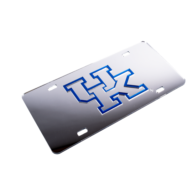 Kentucky License Plate Silver w/ Sliver UK
