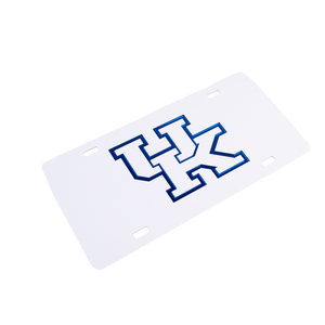 Kentucky License Plate White w/ White UK