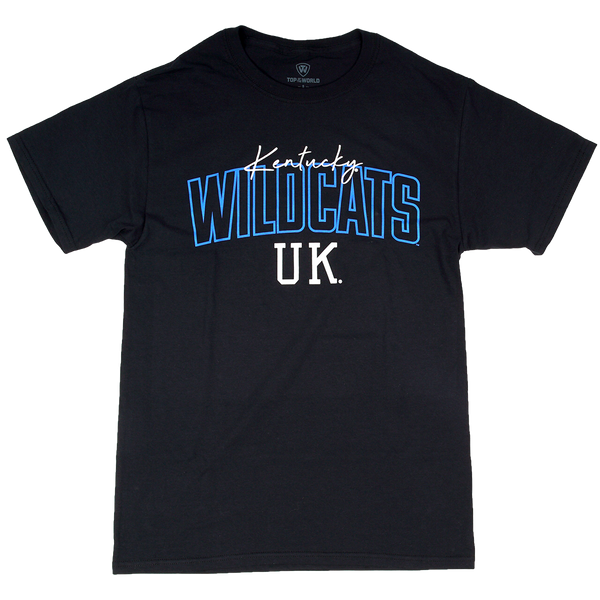 KY Wildcats Blue Outline Black