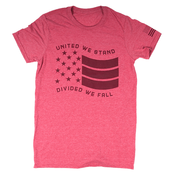 Military United We Stand Heather Red