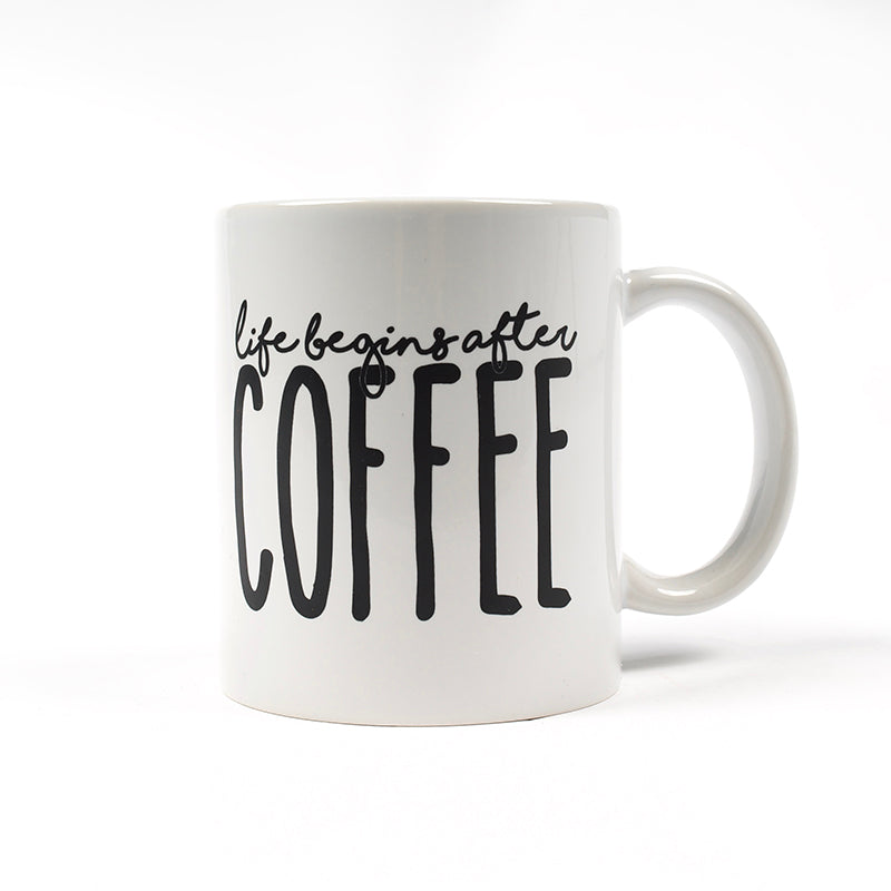 Life After Coffee White Mug