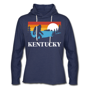 Bluegrass Bigfoot Lightweight Terry Hoodie - heather navy