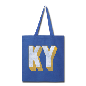 Classic KY Tote Bag - royal blue