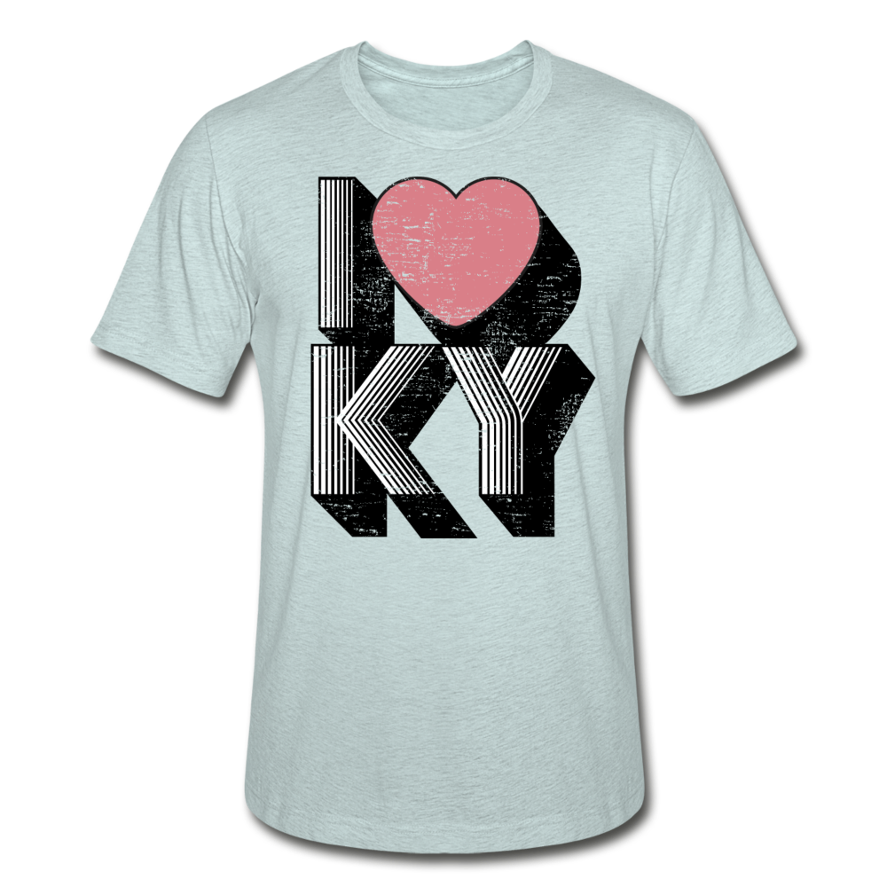 I Heart KY Heather Prism T-Shirt - heather prism ice blue