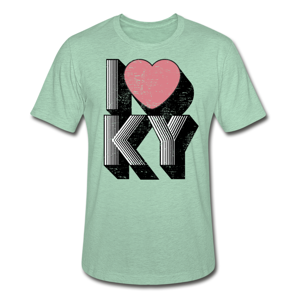 I Heart KY Heather Prism T-Shirt - heather prism mint