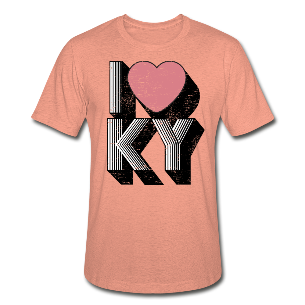 I Heart KY Heather Prism T-Shirt - heather prism sunset
