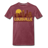 Louisville Two-Tone - heather burgundy