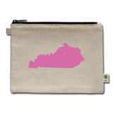 Glitter State Carry All Pouch - natural
