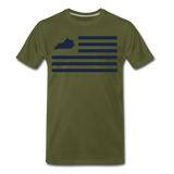 Not Enough Stripes - olive green