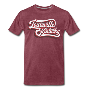 Louisville Retro Script - heather burgundy