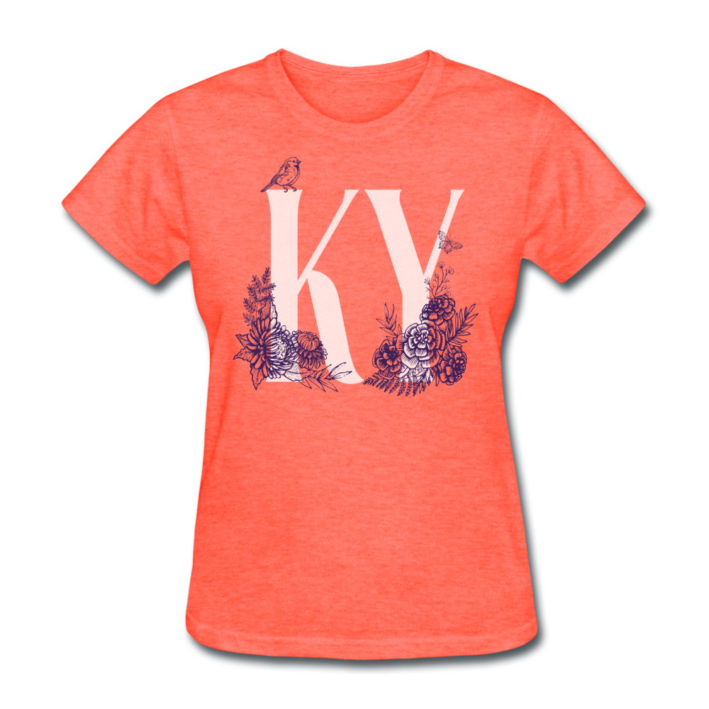 Floral KY - heather coral