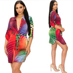 Load image into Gallery viewer, Multicolored Shirt Dress