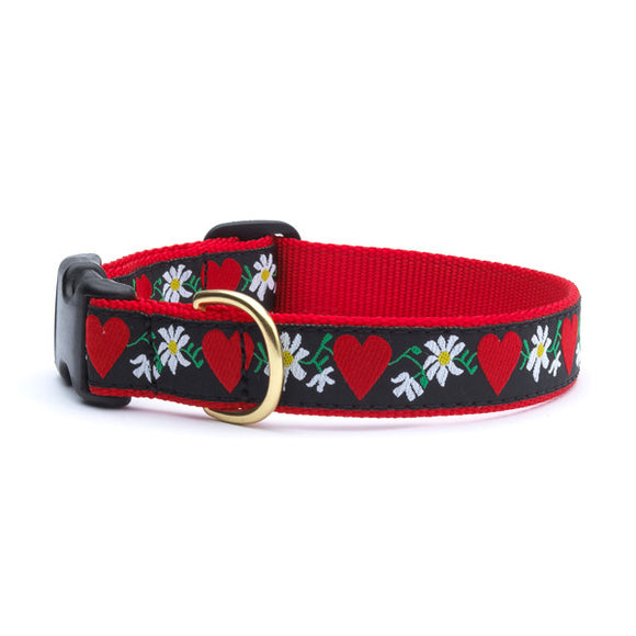 Hearts and Flowers Dog Collars from Absolutely Animals