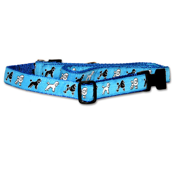 Miniature Poodle Dog Collar in Blue from Absolutely Animals