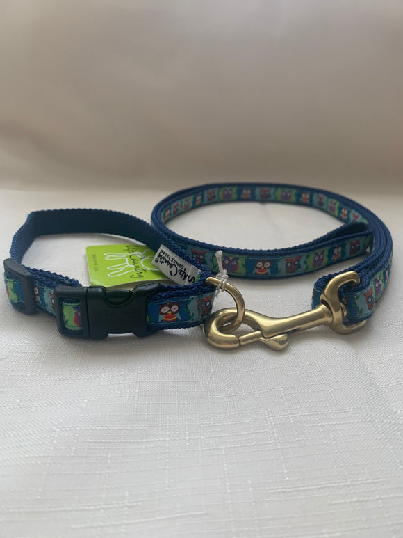 Owls Dog Collar And Lead