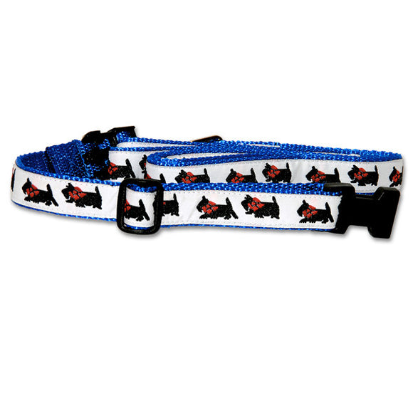 Scottish Terrier Dog Collar in Blue from Absolutely Animals