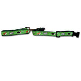 Shetland Sheepdog Dog Collar in Green from Absolutely Animals