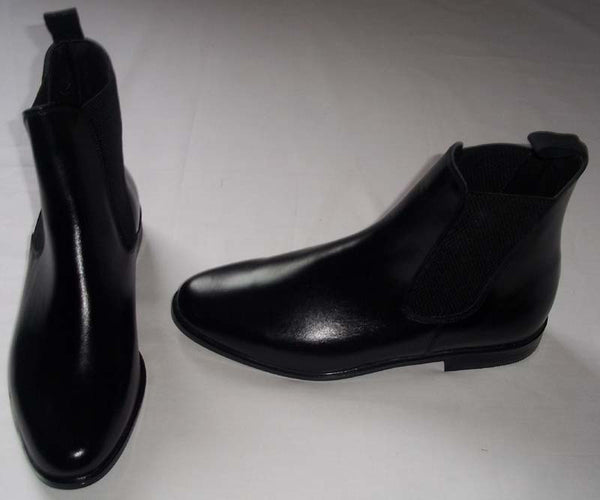 Chelsea Boot Black Leather IN STOCK NOW