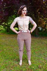 Ladies Western Pants Beige Corduroy  IN STOCK ONLY