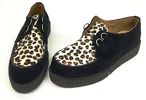 Creeper Black Suede/ Cheetah D-Ring IN STOCK NOW