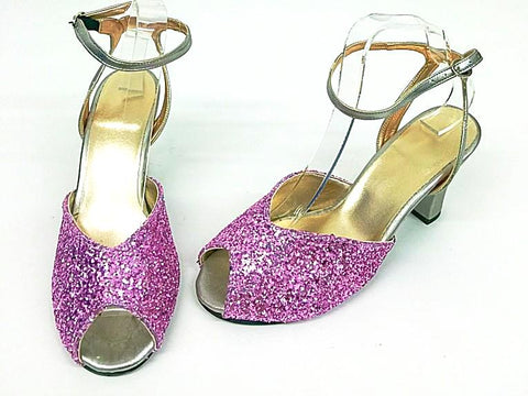 Lana Pink Glitter/Silver H-back IN STOCK NOW size 7