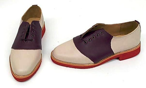 Saddle Burgundy/Cream Red EVA Sole  size 5½ END OF LINE SALE