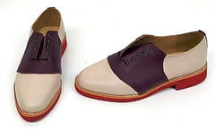 Saddle Burgundy/Cream Red EVA Sole  IN STOCK ONLY size 5½