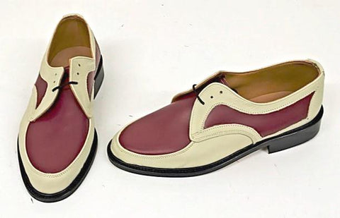 D Gibson Cream/Burgundy IN STOCK NOW size 10