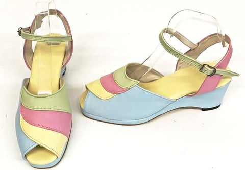 Lauren Pastels Wedge Sandals - IN STOCK NOW