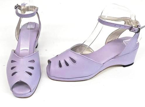 Rita Wedge Sandals Lilac with a H-Back - IN STOCK NOW