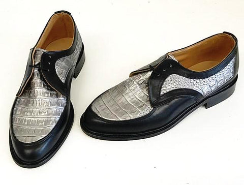 D Gibson Black/Silver croc- IN STOCK NOW size 8