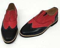 A Brogue - Black/Red Red EVA Sole - IN STOCK NOW size 5 ½