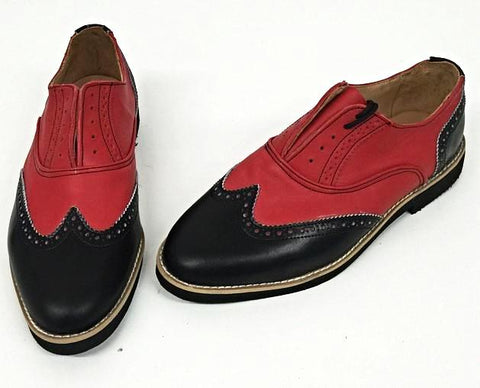 G Brogue - Black/Red Black EVA  Sole - IN STOCK NOW size 5 ½