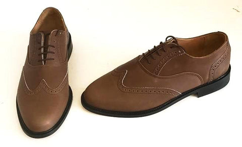 A Brogue Brown Leather  IN STOCK NOW size 9½