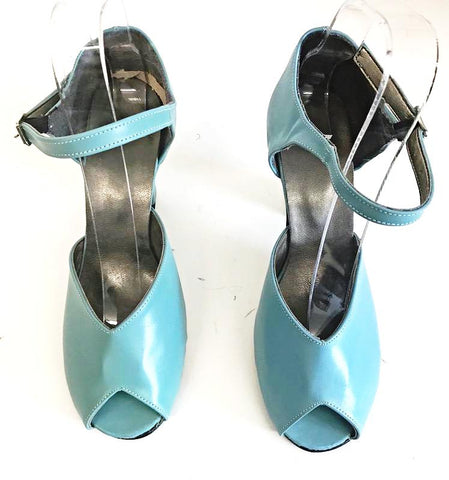 Lana Duck Egg Blue Leather Teardrop Full Back IN STOCK NOW small 3