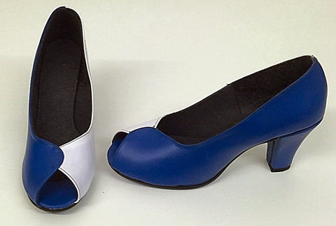 Ava Full Shoe Royal Blue/White - size 7