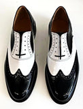A Brogue  Black Patent/White Patent - IN STOCK NOW size 8