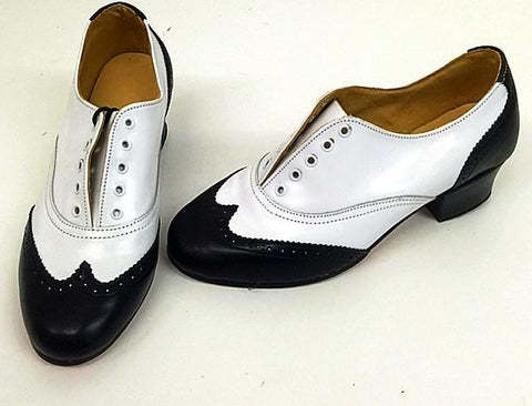 Ladies Brogue Black/White  IN STOCK NOW END OF LINE