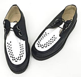 Creeper Black/White Leather D-Ring IN STOCK NOW - size 12