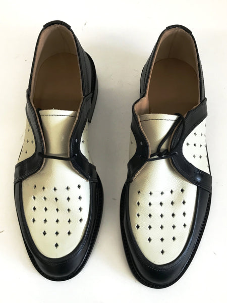 Swingkings Black/Cream Leather IN STOCK NOW size 6½