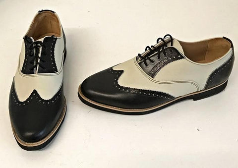 G Brogues Black/Cream Black Facing  Black EVA sole IN STOCK NOW size 8½