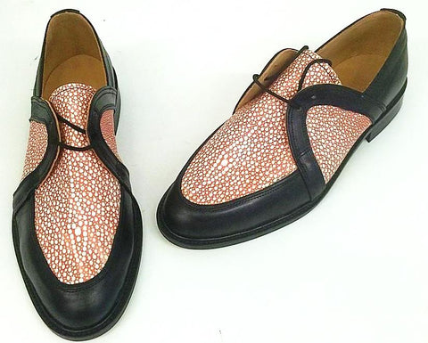 Swingkings Black Leather/Peach Stingray IN STOCK NOW size 9½