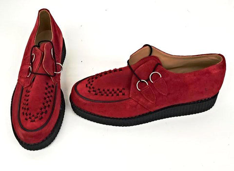 Creeper Red Suede D Ring - IN STOCK NOW