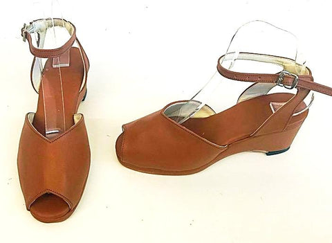 Gina  Tan Wedge Sandals  - IN STOCK NOW size 4