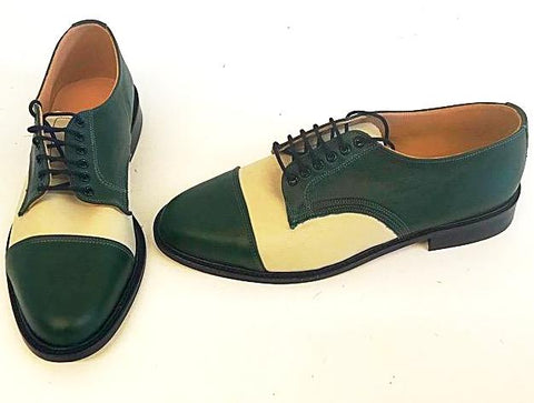 Oxford Racing Green/Cream Leather  IN STOCK NOW