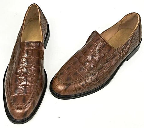 Penny Loafer Brown High Gloss Croc  IN STOCK ONLY size 9