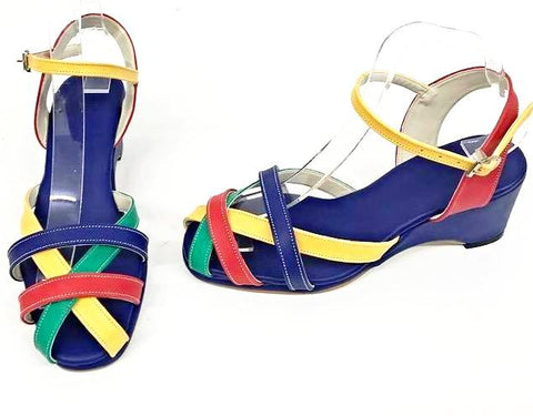 Jean Wedge Sandals Telephone - IN STOCK NOW