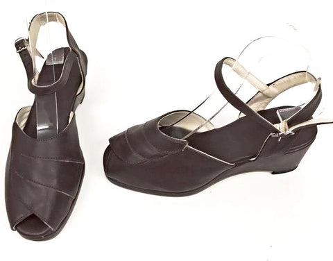 Lauren Brown Wedge Sandals - IN STOCK NOW size 4