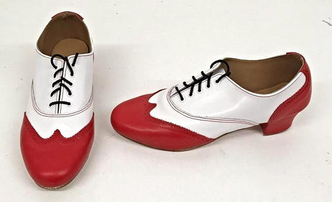 Ladies Brogue Red/White  IN STOCK NOW END OF LINE size 6½