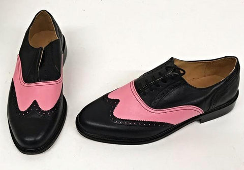 G Brogue Black/Baby Pink IN STOCK ONLY size 8
